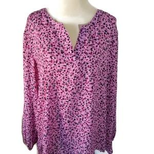 NWT Northcrest 4X Pink Floral Pullover Blouse